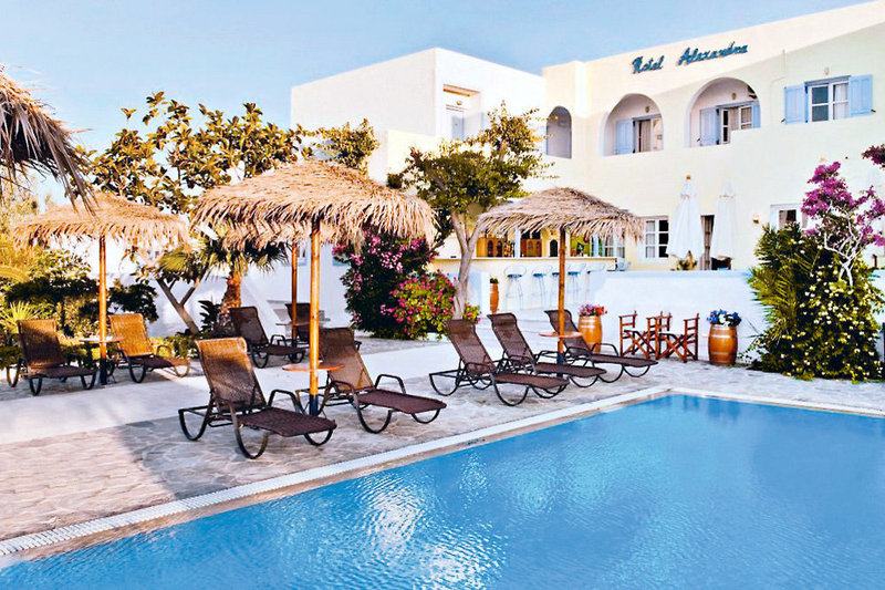 Hotel Alexandra in Kamari, Santorin P