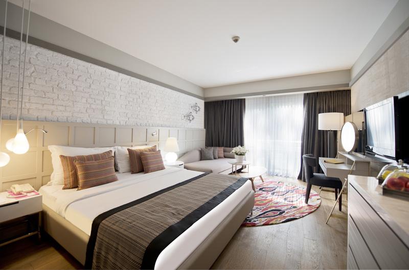 Hotelzimmer mit Volleyball im Barut Cennet