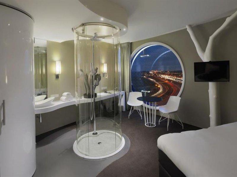 Hotelzimmer mit Restaurant im Fletcher Hotel Amsterdam