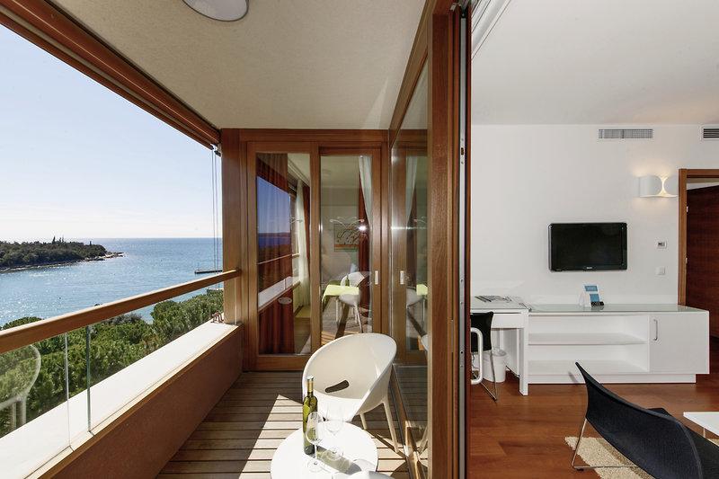 Hotelzimmer mit Volleyball im Island Hotel Istra