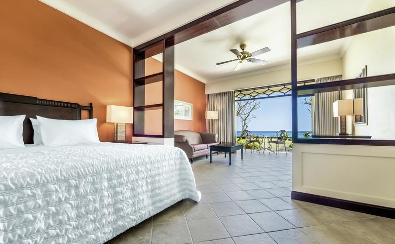 Hotelzimmer mit Volleyball im Le Meridien Ile Maurice