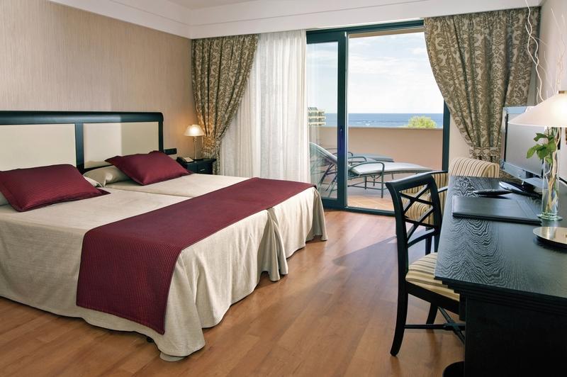 Hotelzimmer mit Mountainbike im Hipotels Hipocampo Palace & Spa