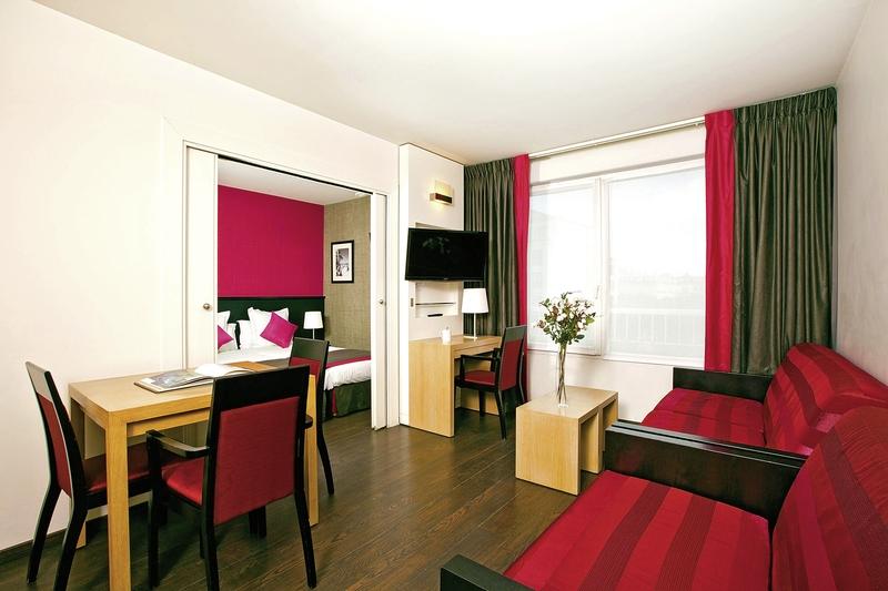 Hotelzimmer mit Hallenbad im Residhome Appart Hotel Val d'Europe