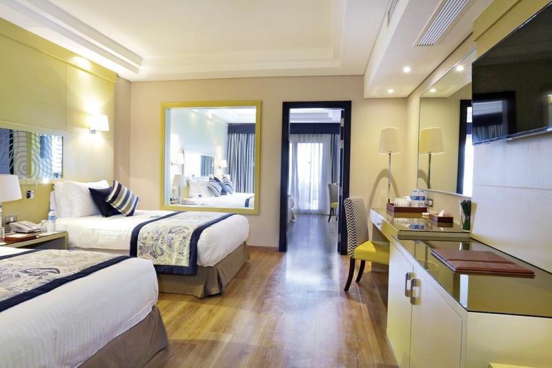 Hotelzimmer mit Yoga im Rixos Seagate Sharm