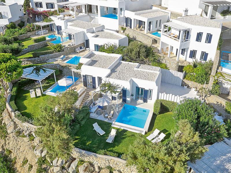 Hotelzimmer mit Paddeln im Mykonos Blu Grecotel Exclusive Resort