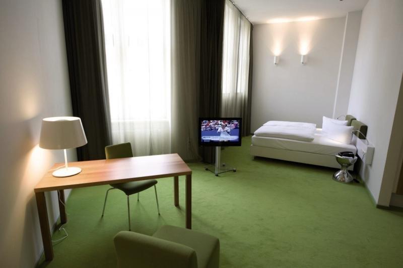 Hotelzimmer mit Fitness im Wyndham Garden Berlin Mitte