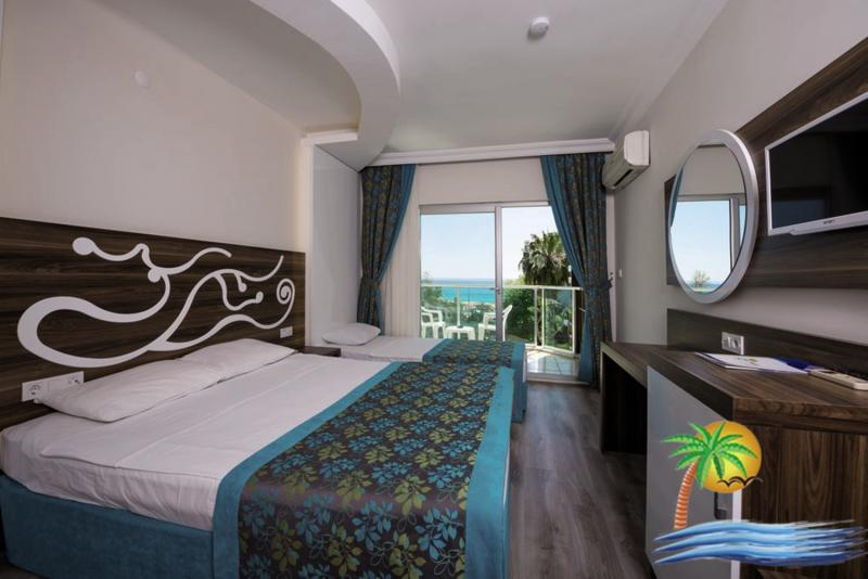 Hotelzimmer mit Wassersport im Hotel Kleopatra Blue Hawaii